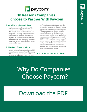 Why Do Companies Choose Paycom? Download the PDF