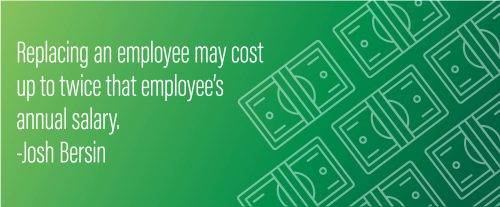 Graphic: Replacing an employee may cost up to twice that employee's annual salary.