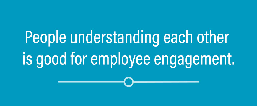 Graphic: People understanding each other is good for employee engagement