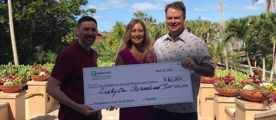 Paycom's Sales Force Raises $61,000 for The Shelter for ...