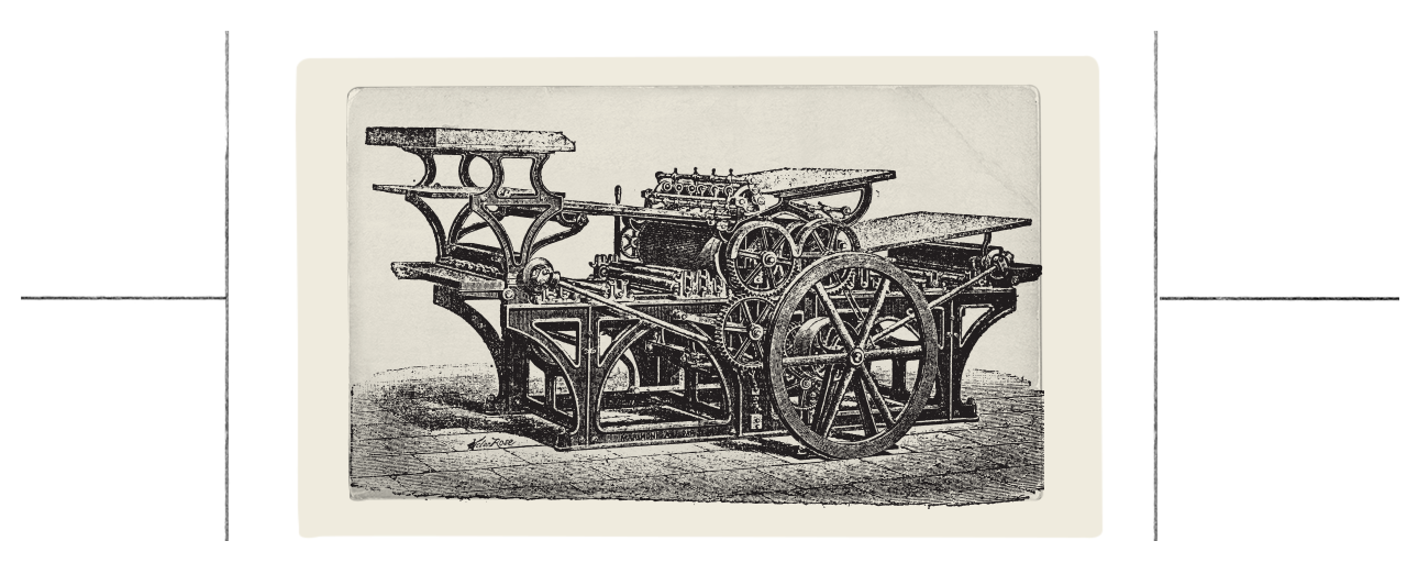 In 1440, the printing press shifted the process of document creation from painstakingly manual to reliably mechanical.