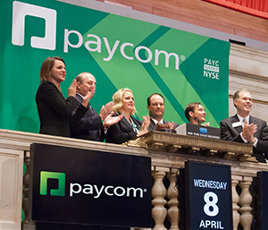 Paycom Going Public, Ringing The Bell at the NYSE