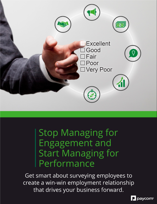 Stop managing for engagement and start managing for performance